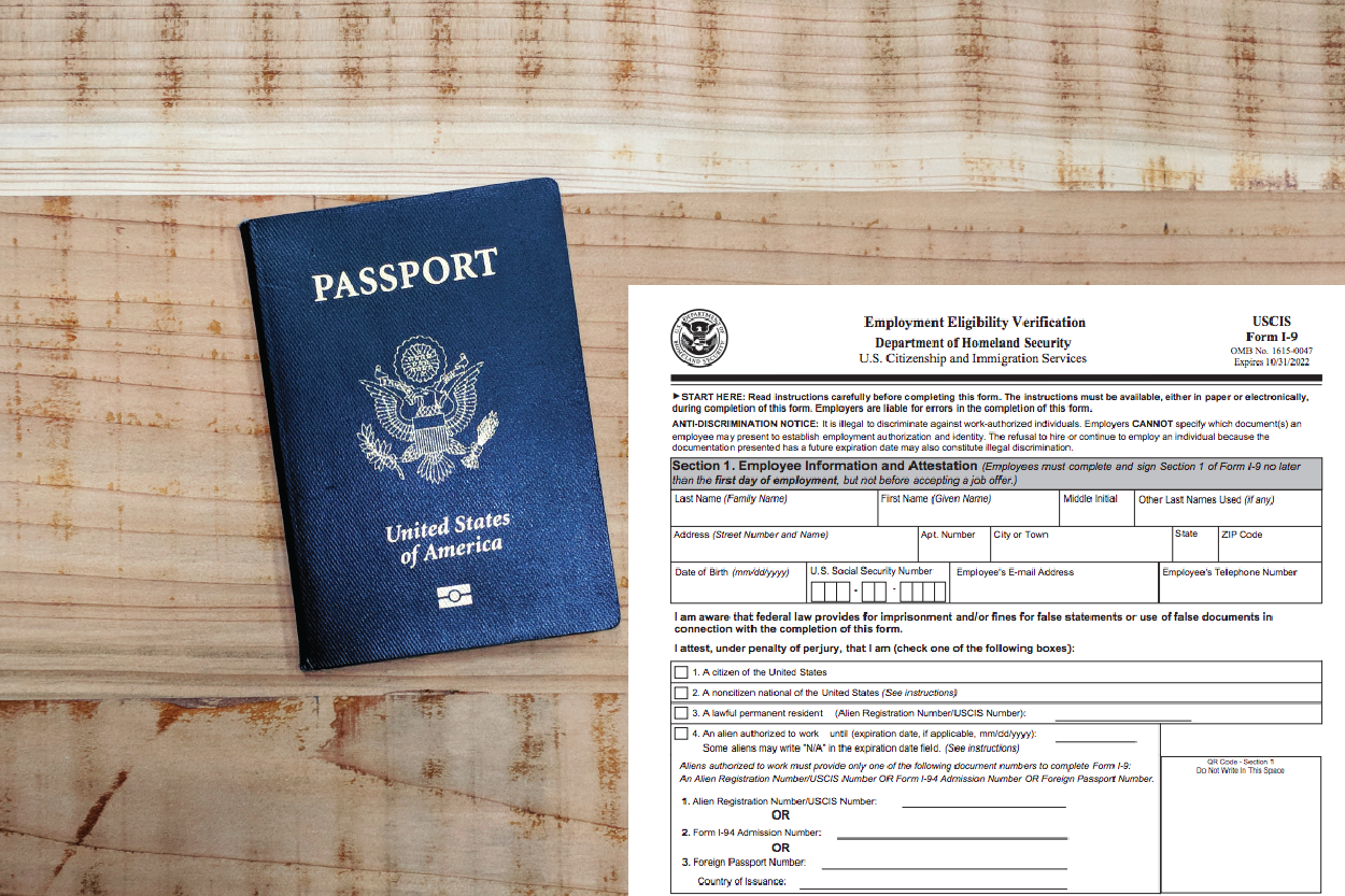 Passport and I-9 Form
