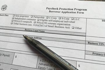 SBA PPP Loan Application with Pen
