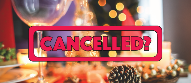 Holiday Background With Canceled Stamp